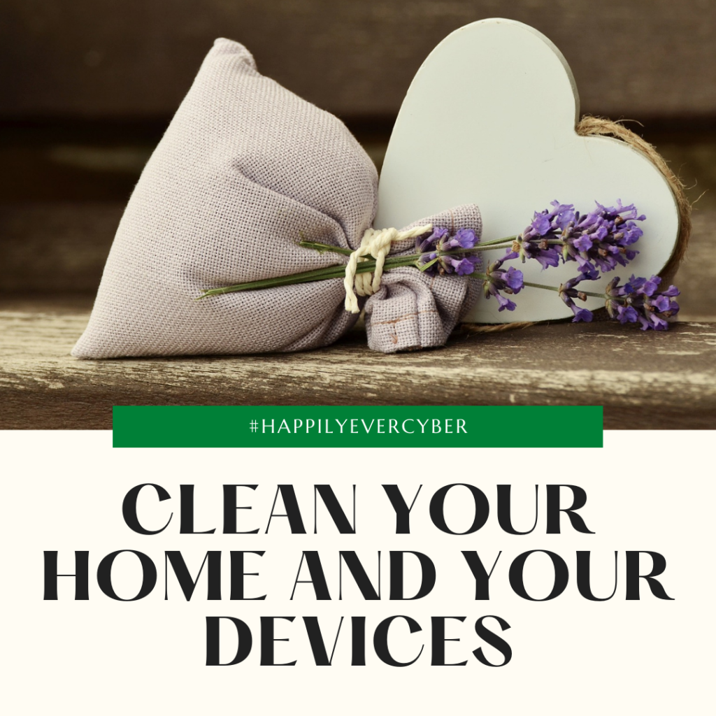 clean your home and your devices - happily ever cyber - sandra estok